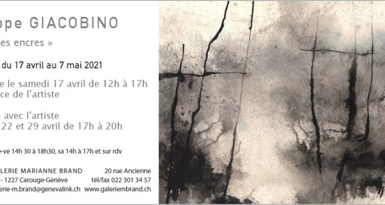 Exposition  «Nouvelles encres» de Philippe Giacobino chez Marianne Brand